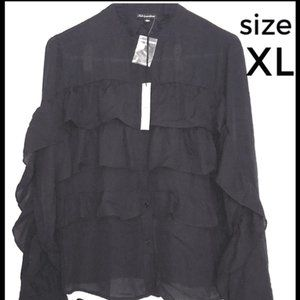🆕 Shinestar black blouse XL